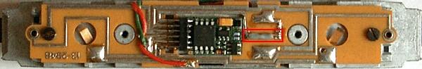 Platine der RE 4/4 460, fertig Digitalisiert mit Drahtbrücke