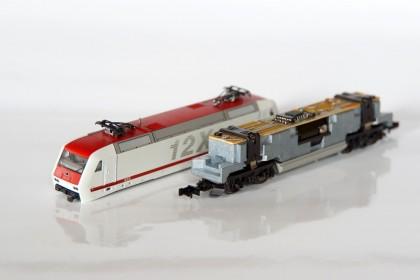 BR 128 - Gehäuse abgenommen - Lok fertig umgebaut
