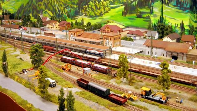 Bahnhof Hausach auf der Schwarzwald Modellbahn