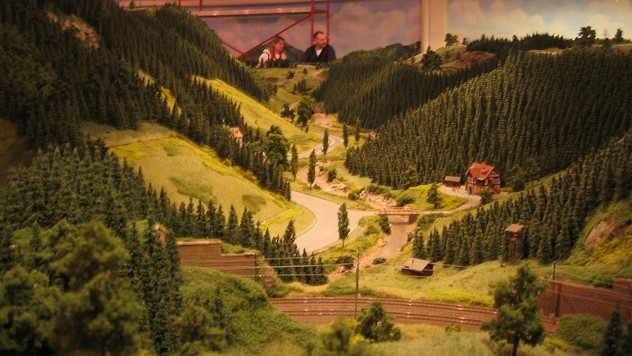 Beeindruckend nachgebaute Schwarzwaldlandschaft