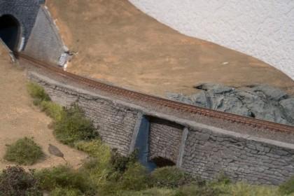 Die Trasse auf unserem Diorama endet in einem Tunnel