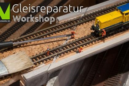 N-Modellbahn Gleisreparatur bei geklebten Gleisen