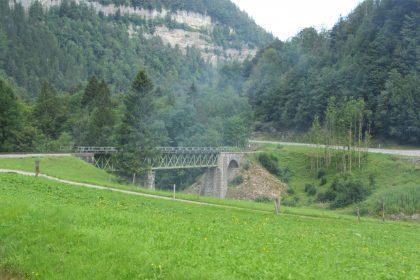 Sporeneggbrücke über die Bregenzerach mit 68 m