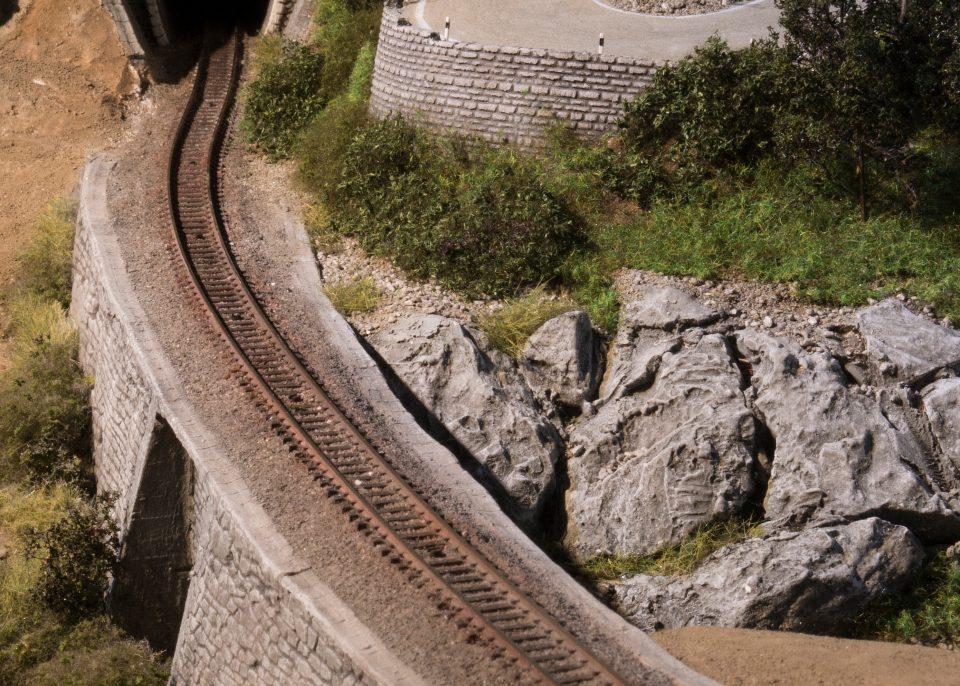 N-Modellbahn Testdiorama mit Straße