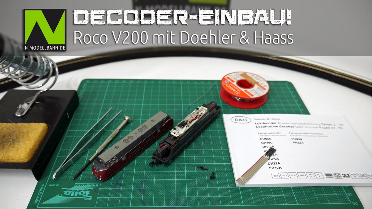 Decodereinbau V200 von Roco