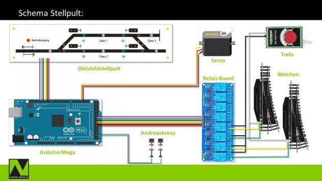 Schema Stellpult mit Arduino