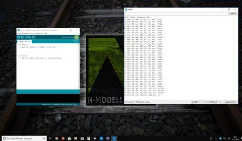 Arduinoeinstellungen Test Kommunikation