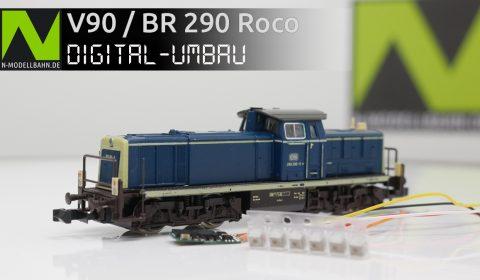 Roco V90 / BR 290 Decodereinbau mit Pufferkondensator