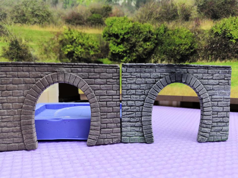 Tunnelportal aus Heki-dur Konstruktionsplatten oder Gips? Das ist hier die Frage…
