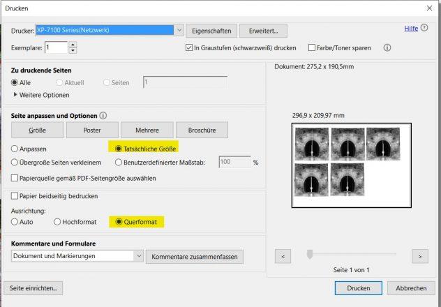 Adobe Acrobat Drucker Einstellungen