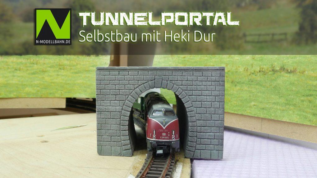 Tunnelportal Selbstbau Heki-Dur